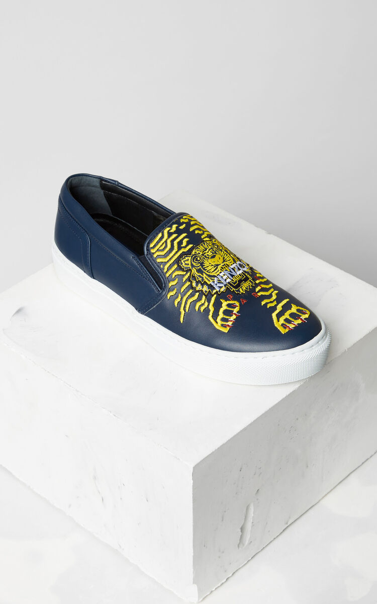 NAVY BLUE K-Skate' sneaker x 'Géo Tiger' for unisex KENZO