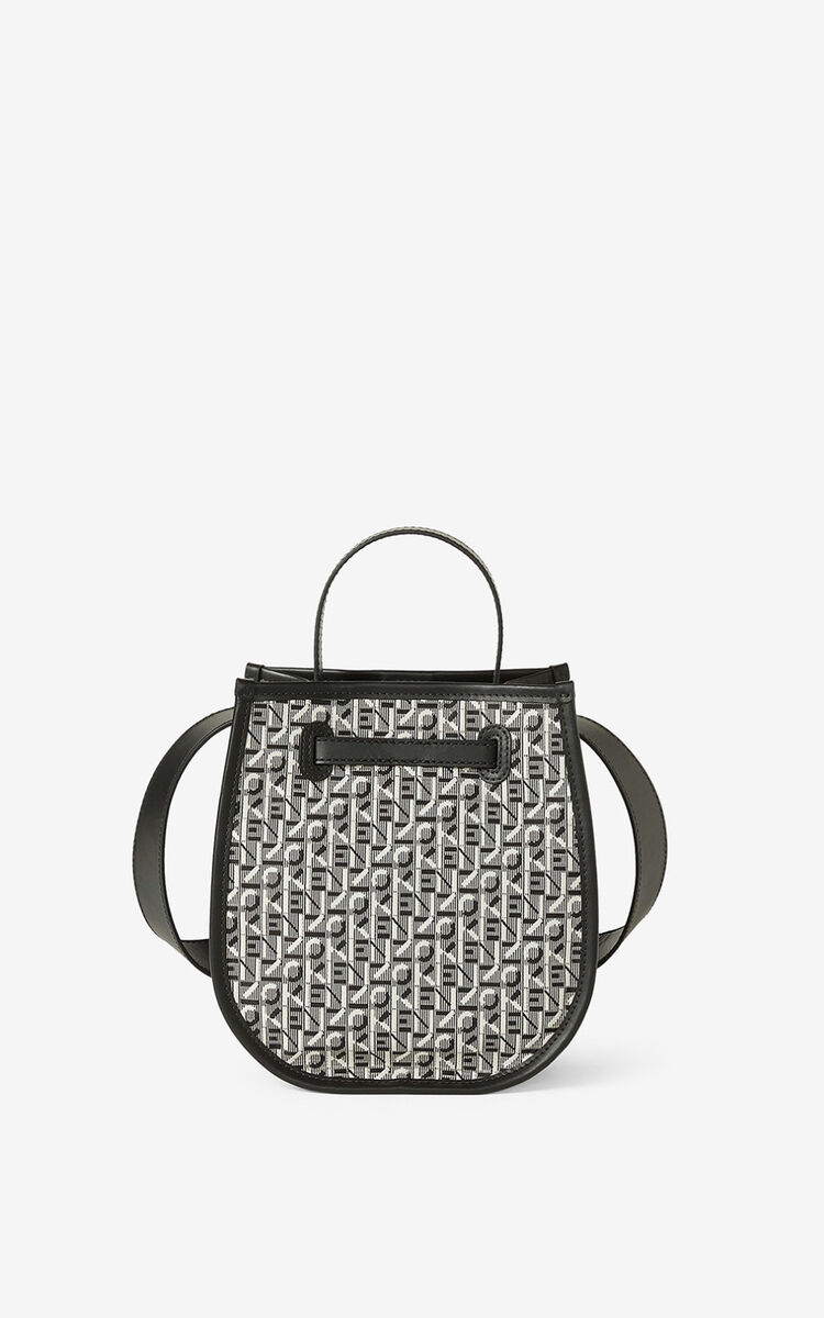MISTY GREY Courier jacquard bucket bag     for women KENZO