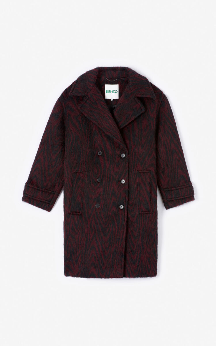BORDEAUX 'Moire Tiger' coat for women KENZO