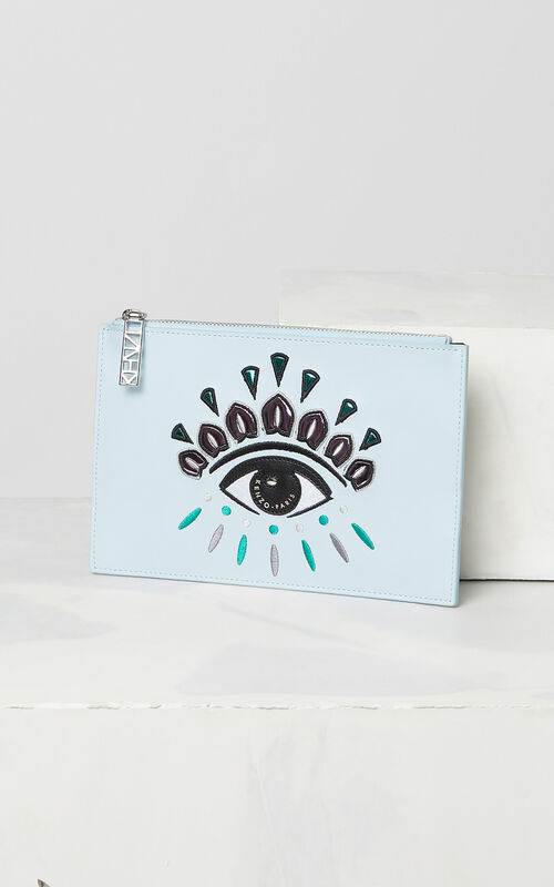 SKY BLUE A5 Eye clutch for unisex KENZO