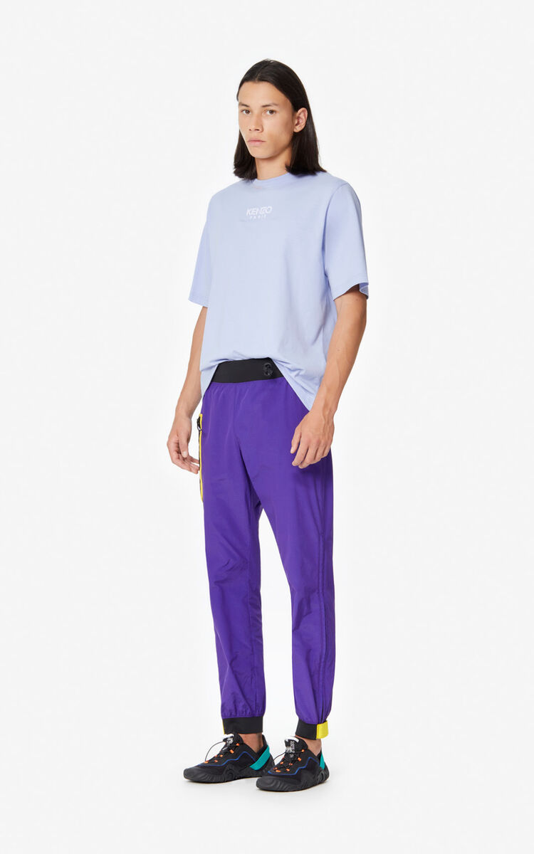 AUBERGINE Colourblock trousers for men KENZO