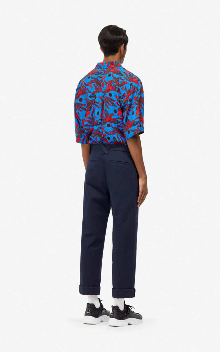 MIDNIGHT BLUE Straight trousers for men KENZO