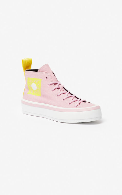 PASTEL PINK 'Square Logo' K-Street sneakers for women KENZO