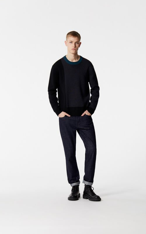 BLACK Reversible wool and cashmere jumper for women KENZO