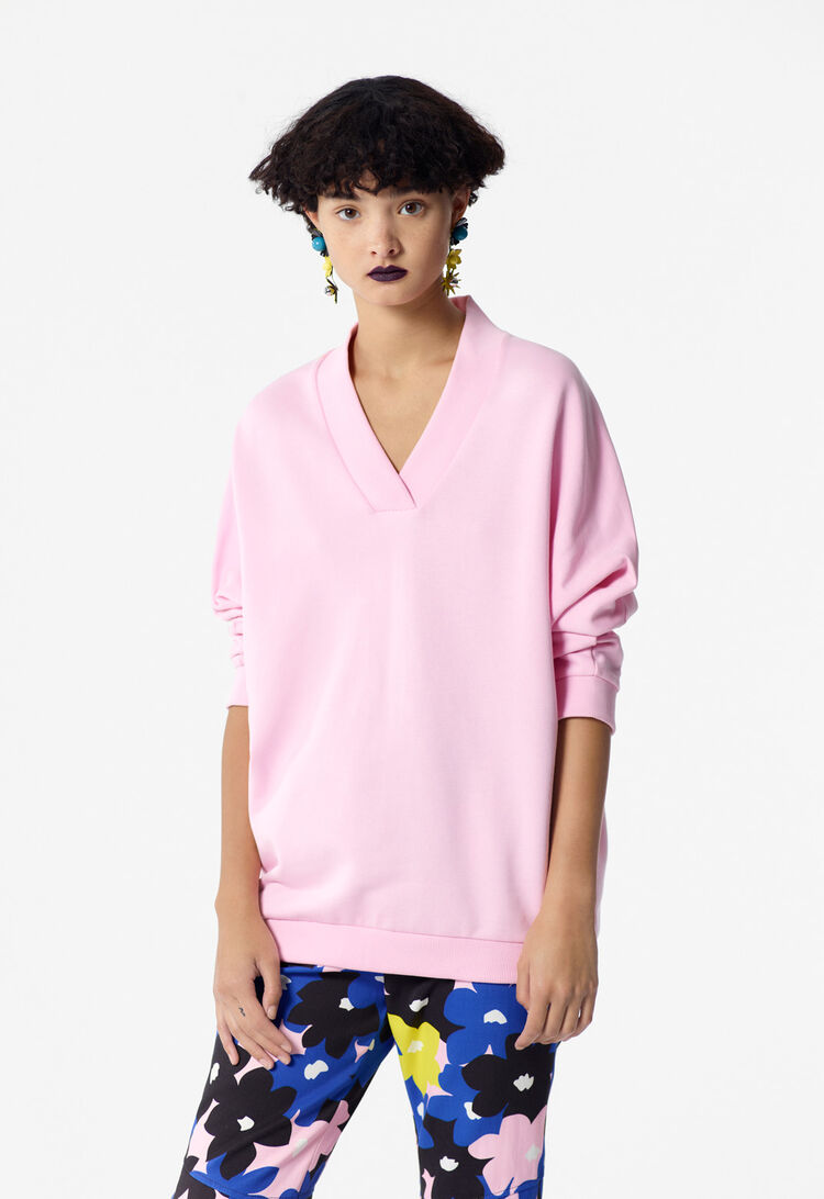 FLAMINGO PINK KENZO Logo Sweatshirt for women