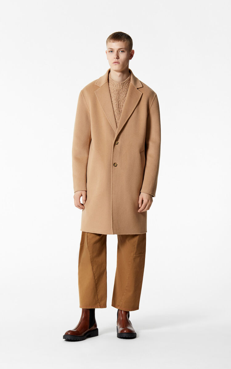b914168689 Straight-cut wool and cashmere coat for Collection Hiver Kenzo ...