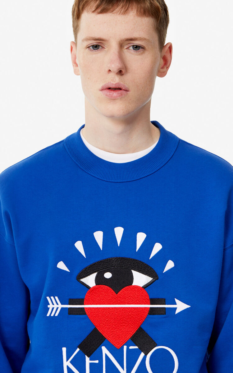 FRENCH BLUE 'I ❤ KENZO' sweatshirt for men
