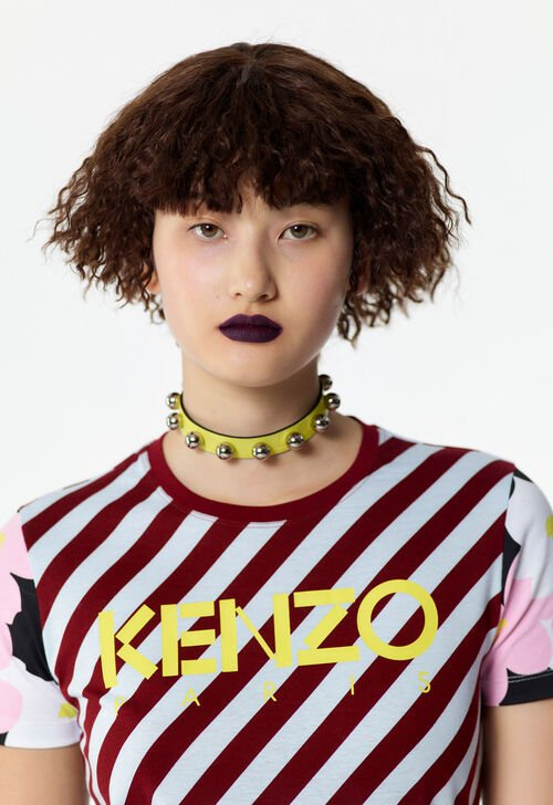 SKY BLUE Striped KENZO t-shirt for women
