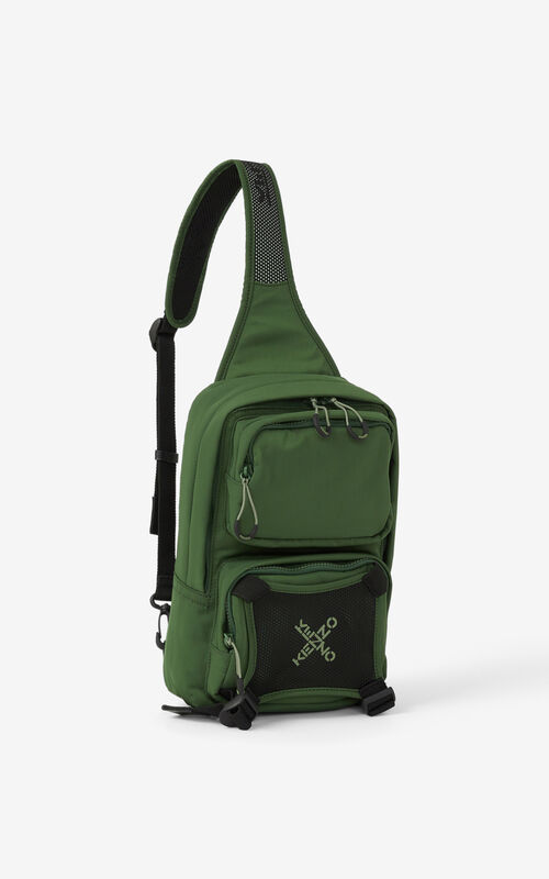 DARK KHAKI KENZO Sport backpack with strap for unisex