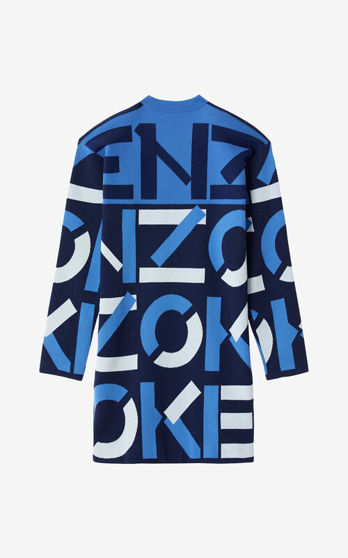 MIDNIGHT BLUE KENZO Sport monogram jacquard dress for women