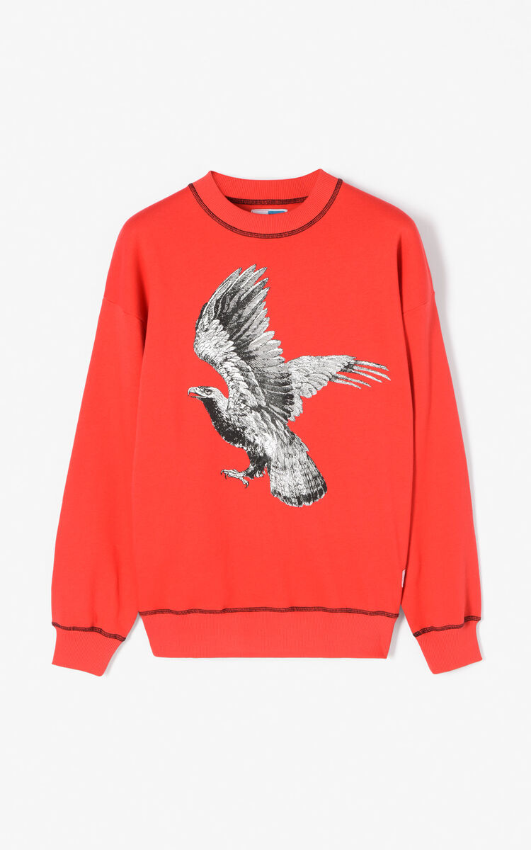 MEDIUM RED Wide 'Eagle' Sweatshirt for women KENZO