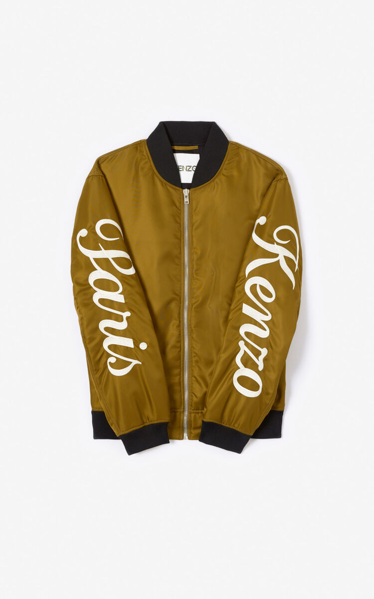 KHAKI KENZO Paris varsity jacket  for men