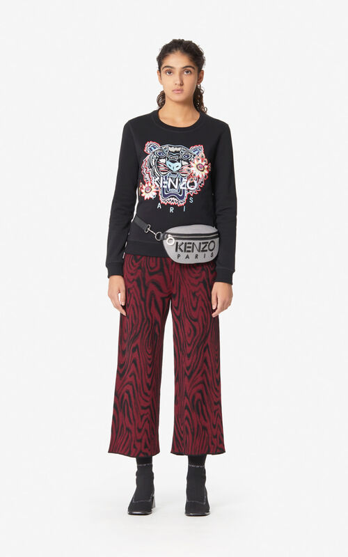 BLACK 'Passion Flower' Tiger sweatshirt for women KENZO