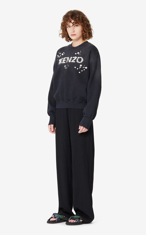 BLACK Beaded KENZO sweatshirt for women