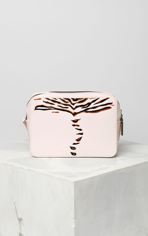 FADED PINK 'Crawling Tiger' camera bag for women KENZO