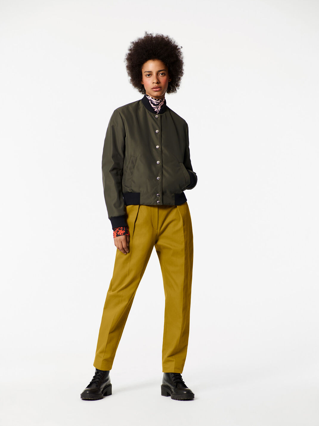 PALE KHAKI High Waisted Pants for women KENZO