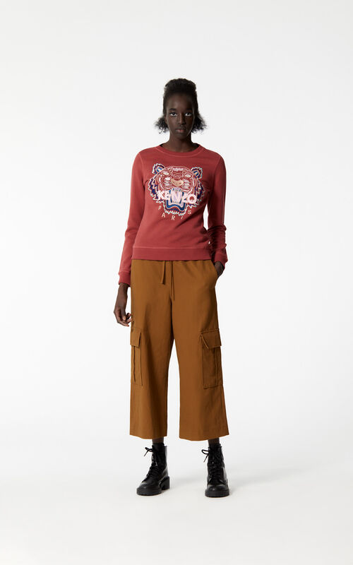 SUEDE Tiger sweatshirt for women KENZO
