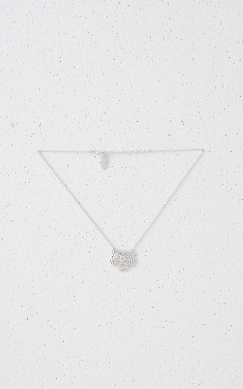 SILVER Medium Tiger necklace for women KENZO