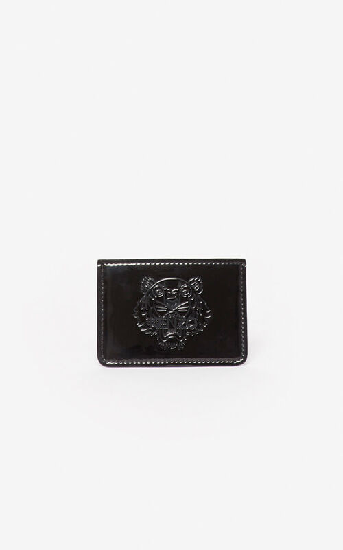 BLACK Tiger card holder for men KENZO