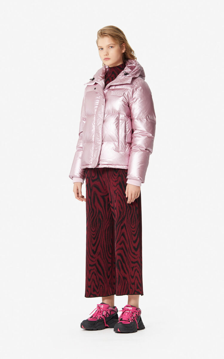 FLAMINGO PINK Quilted puffer jacket for women KENZO