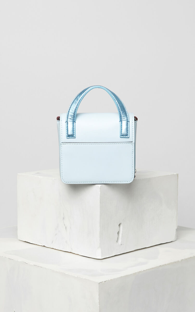 SKY BLUE Mini Sailor bag in leather for unisex KENZO