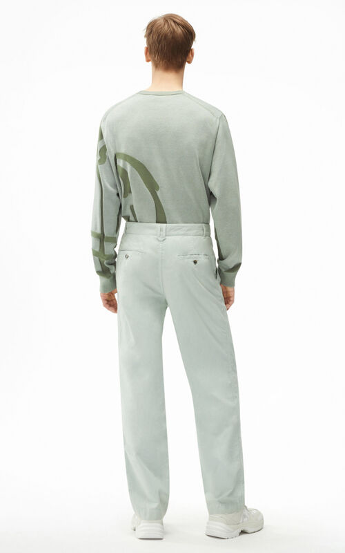 SAGE GREEN Chino trousers for men KENZO