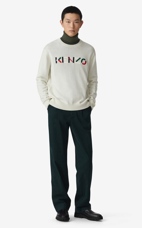 ECRU KENZO Logo jumper for men