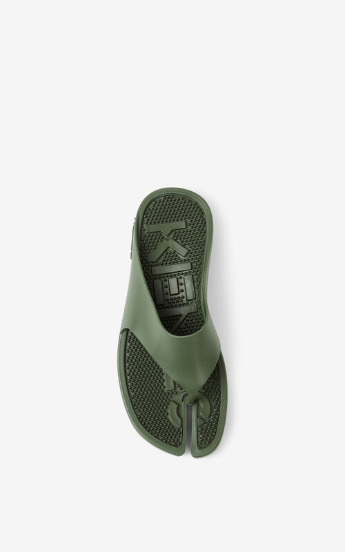 DARK KHAKI K-Beach flip-flops for unisex KENZO