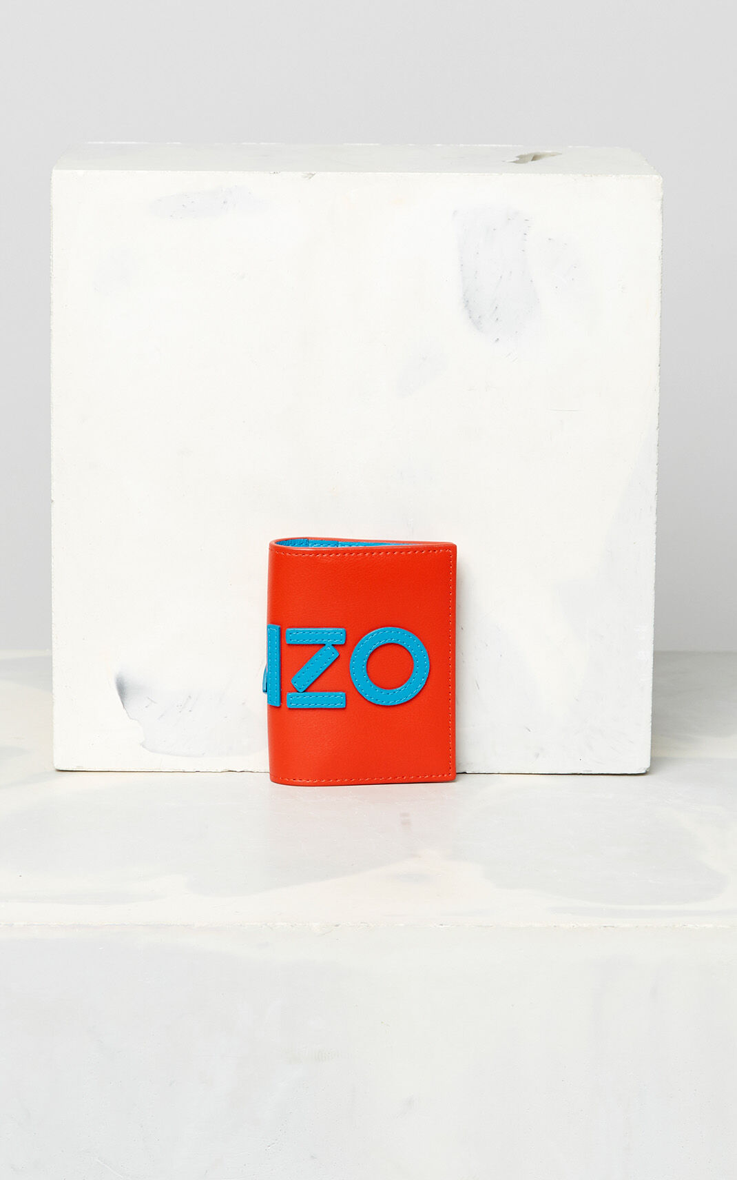 MEDIUM RED KENZO colorblock cardholder for unisex