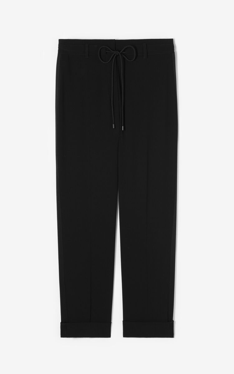 BLACK Flowing trousers for women KENZO