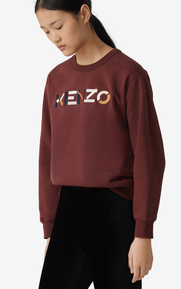 BORDEAUX KENZO Logo sweatshirt for women
