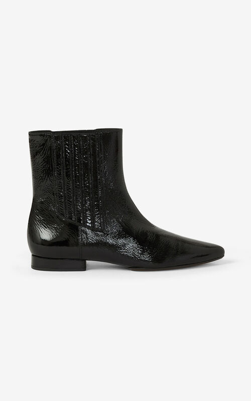 BLACK K-Line Soft leather ankle boots for women KENZO