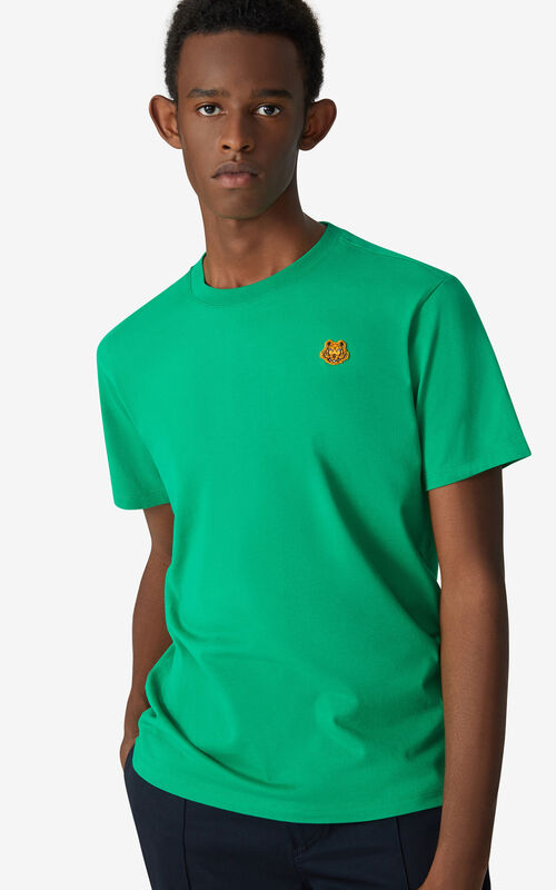 GREEN Tiger Crest T-shirt      for men KENZO