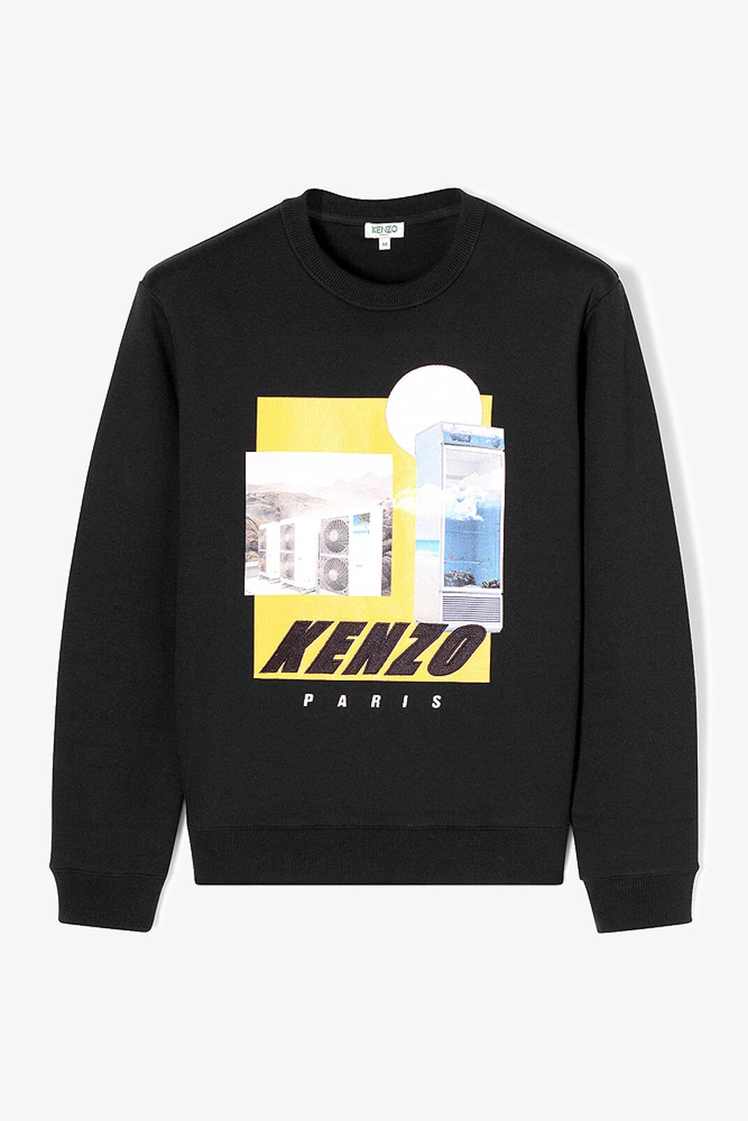 BLACK Tropical Ice Graphic Sweatshirt for men KENZO