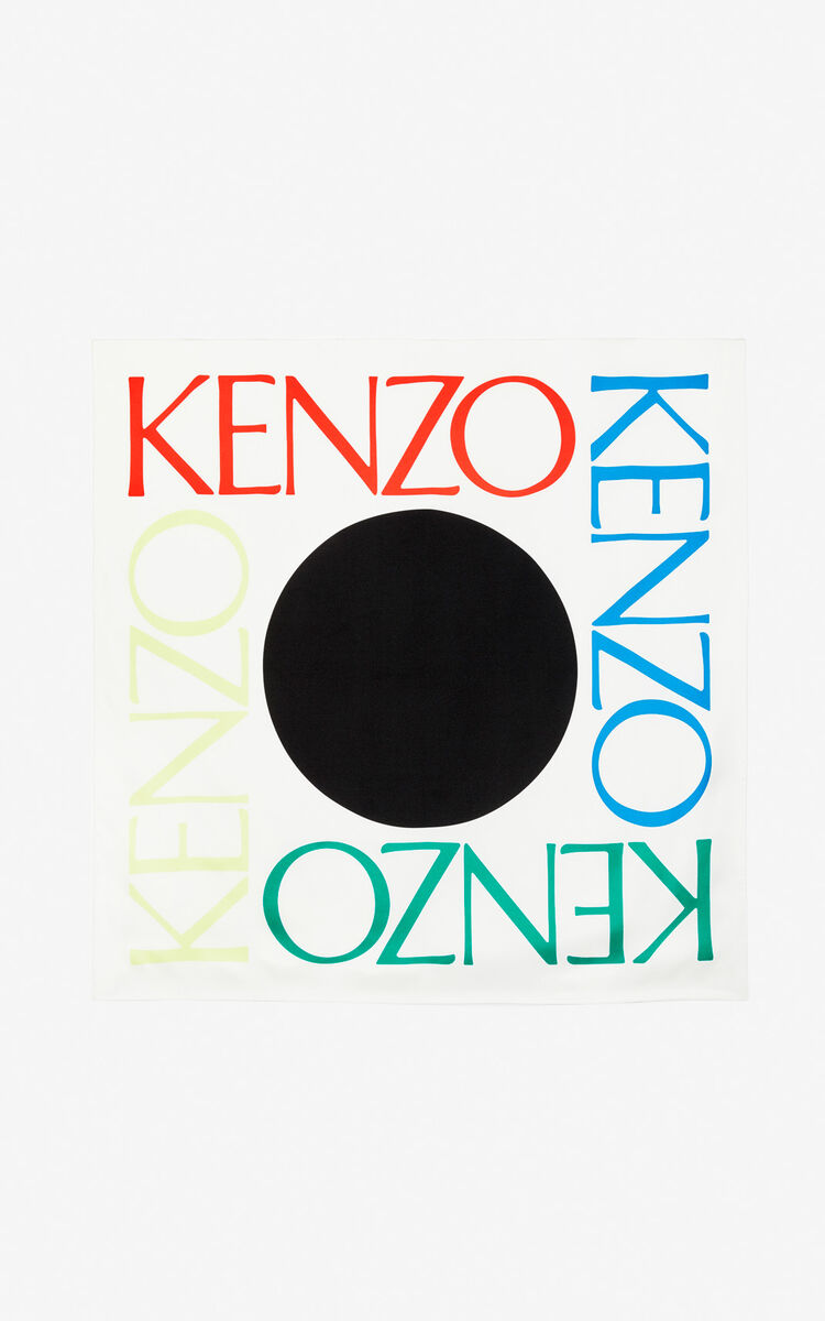 bd9c1ca247 Square Logo' colorblock silk scarf for SUMMER OUTLET Kenzo | Kenzo.com