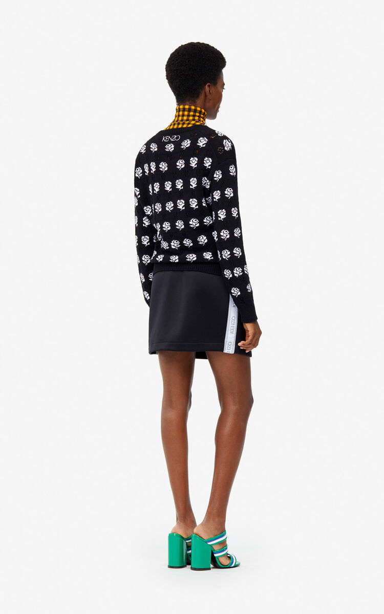 BLACK 'Roses' jumper for women KENZO