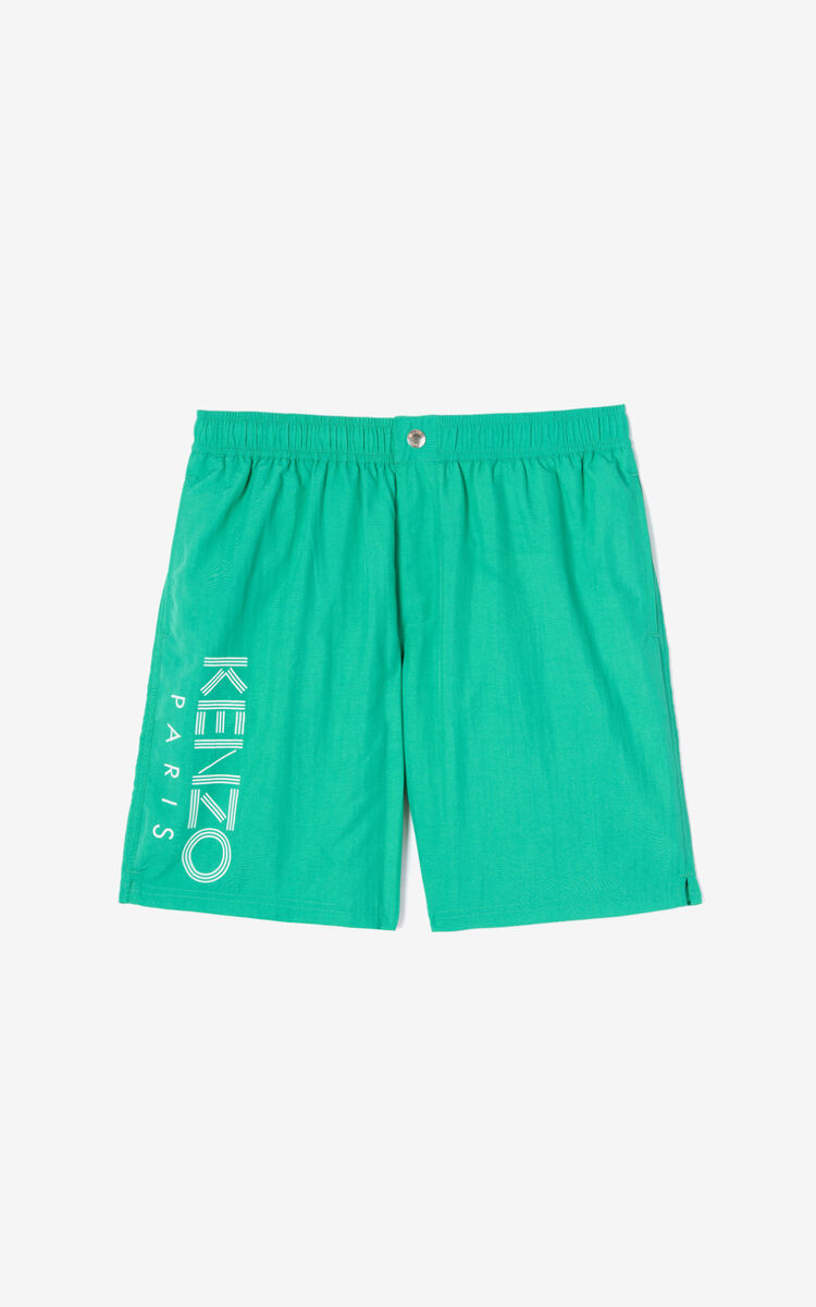 MINT KENZO Logo bathing shorts for men