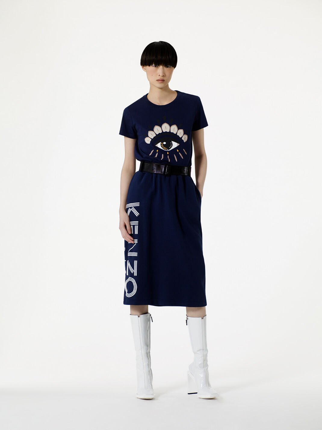 MIDNIGHT BLUE Eye T-shirt  for women KENZO
