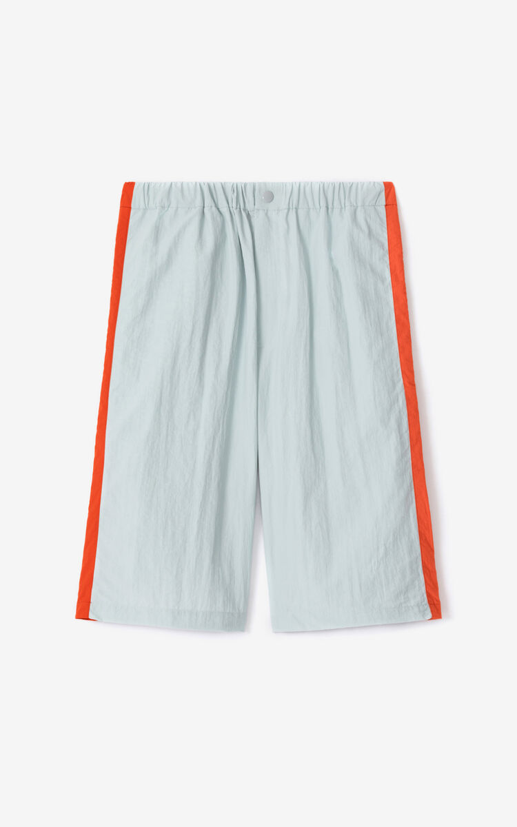 PALE GREY KENZO Sport shorts for men