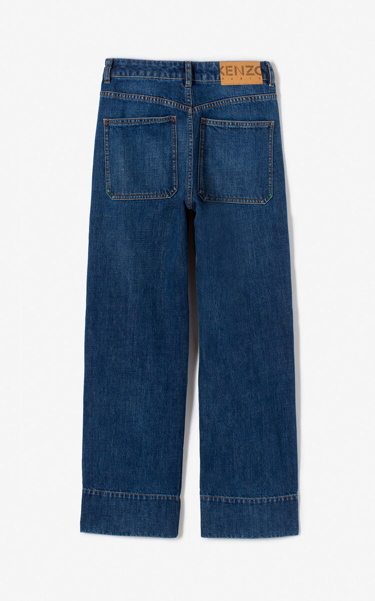 MIDNIGHT BLUE Wide leg jeans for women KENZO
