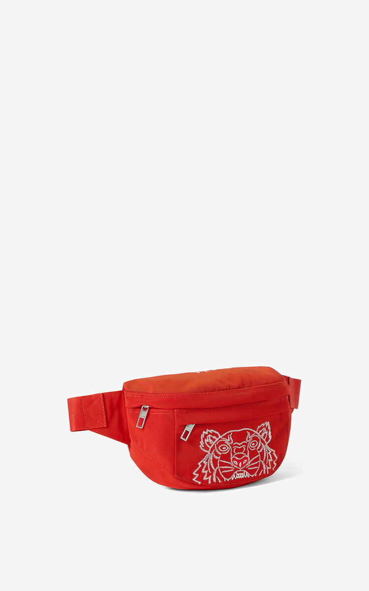 MEDIUM RED  Tiger belt bag for men KENZO