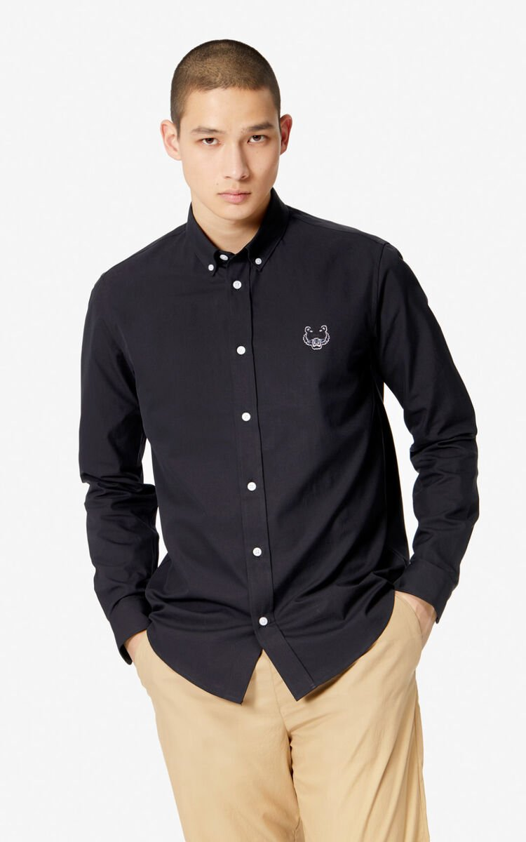 BLACK Tiger shirt for men KENZO