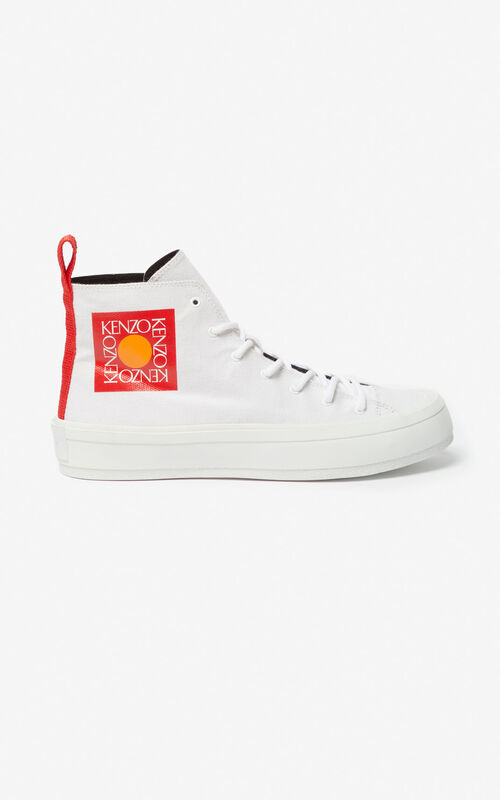 WHITE 'Square Logo' K-Street sneakers for men KENZO