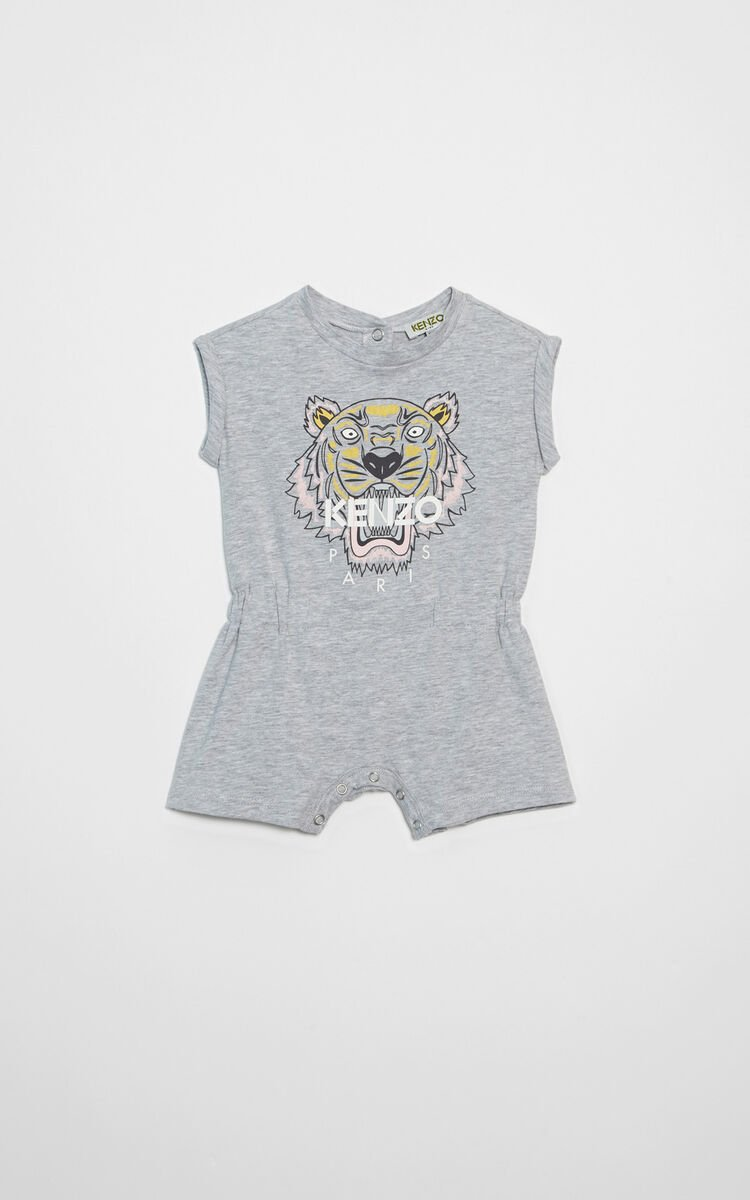 PALE GREY Tiger jumpsuit for women KENZO