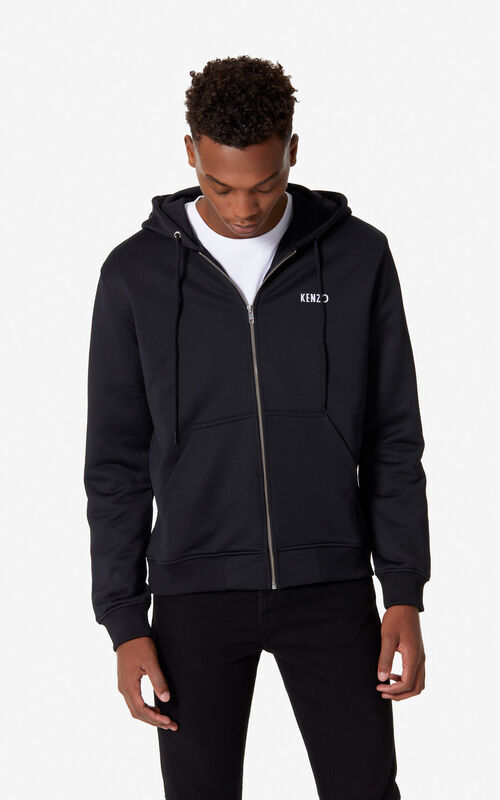 BLACK 'Dragon' hooded jacket for men KENZO