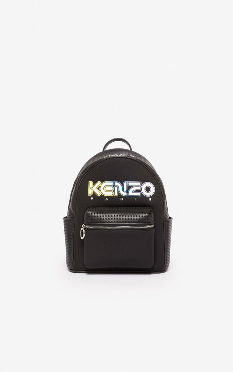 BLACK Neoprene Kombo backpack for men KENZO