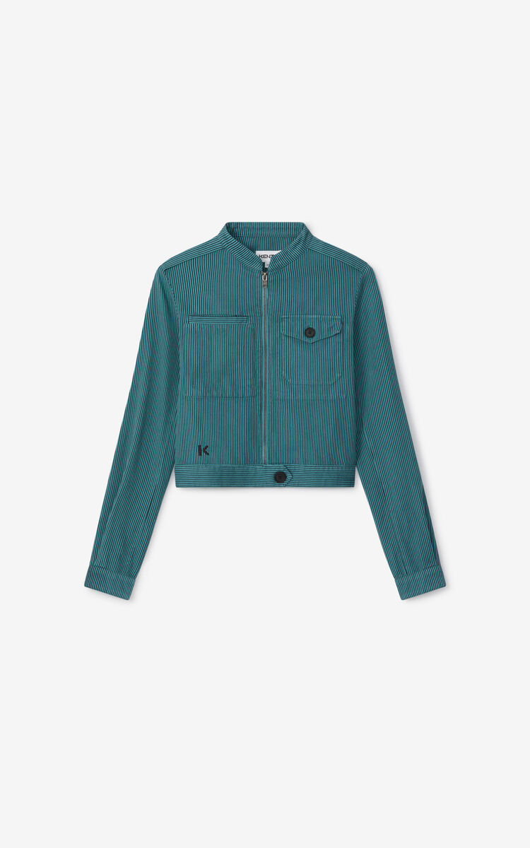 GLACIER Overdyed fitted jacket  for women KENZO