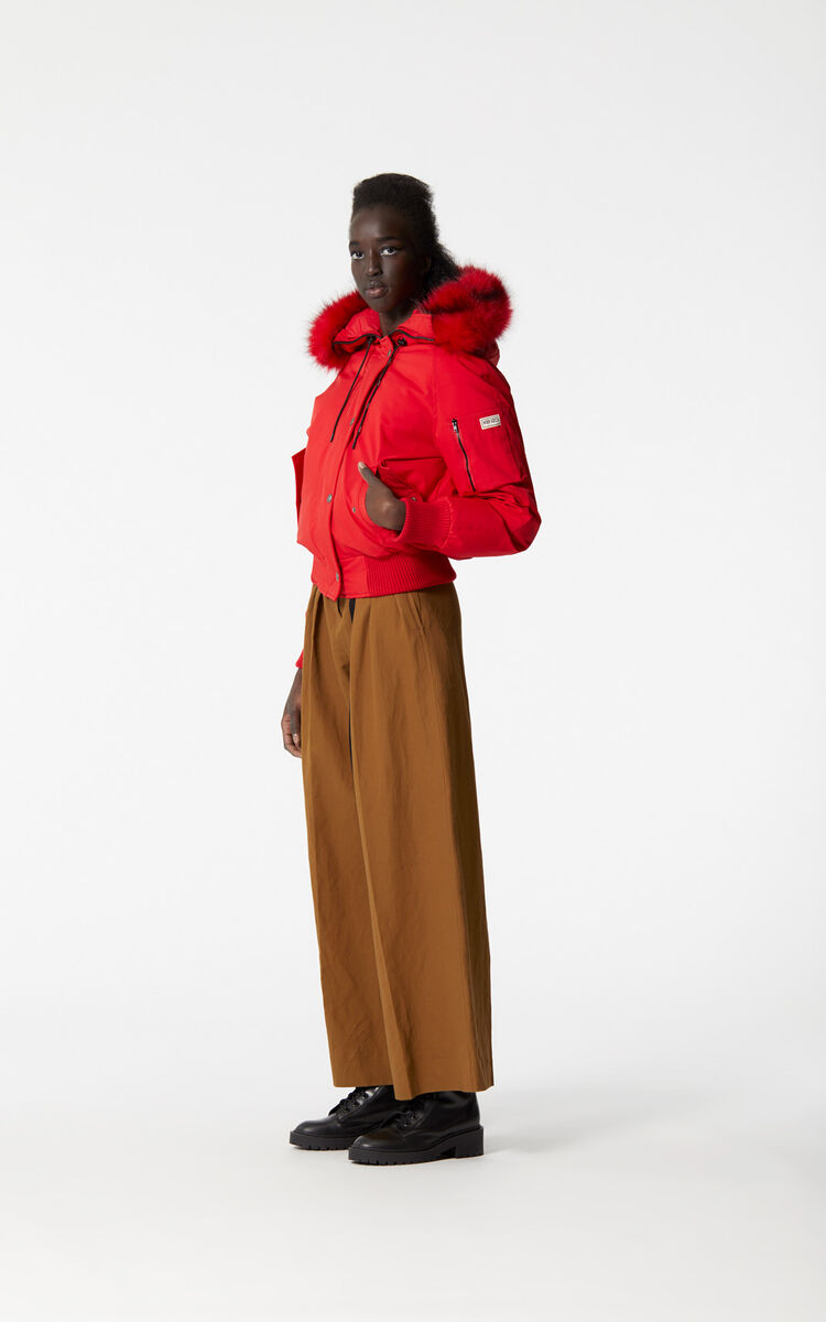 MEDIUM RED Puffa Jacket for women KENZO