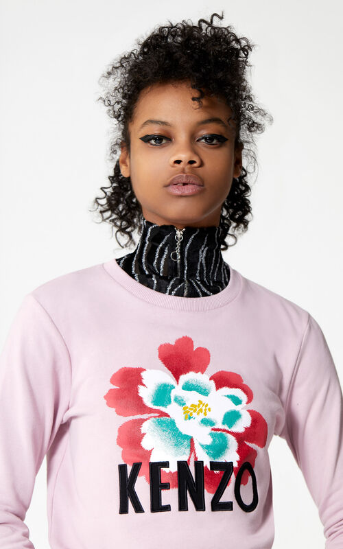 PASTEL PINK 'Indonesian Flower' sweatshirt for women KENZO