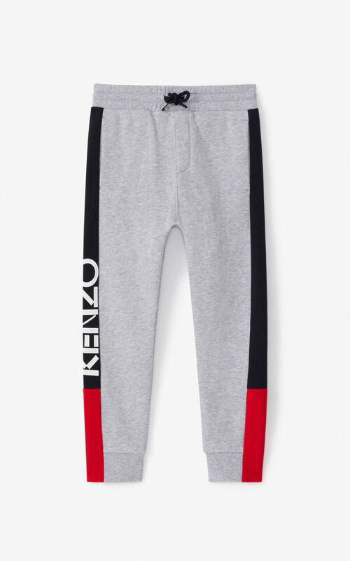 PEARL GREY 'Tokyo' jogging trousers for unisex KENZO